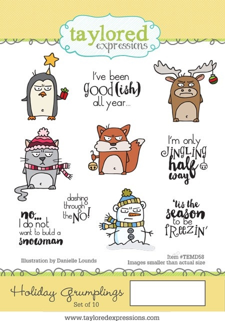 Taylored Expressions HOLIDAY GRUMPLINGS Cling Stamp Set TEMD58 zoom image