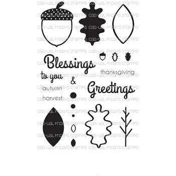CAS-ual Fridays AUTUMN BLESSINGS Clear Stamps CFSS15012