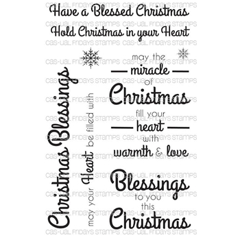 CAS-ual Fridays LOVELY BLESSINGS Clear Stamps CFSS15014