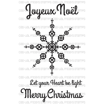 CAS-ual Fridays LOVELY SNOWFLAKE Clear Stamps CFSS15015