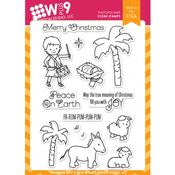 Wplus9 DRUMMER BOY Clear Stamps CLWP9DRBO