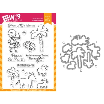 Wplus9 DRUMMER BOY SET Clear Stamp And Die Combo WPLUS270