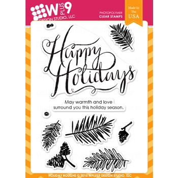 Wplus9 HOLIDAY BOUGHS Clear Stamps CLWP9HOBO