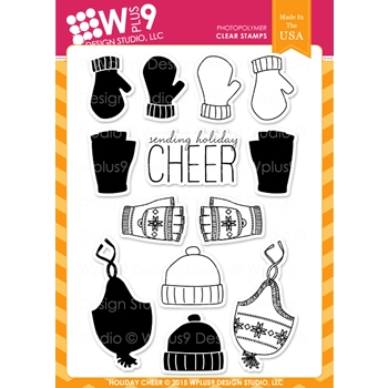 Wplus9 HOLIDAY CHEER Clear Stamps CLWP9HOCH
