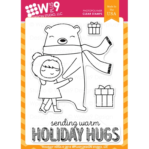 Wplus9 HOLIDAY HUGS Clear Stamps CLWP9HOHU Preview Image