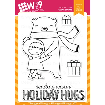 Wplus9 HOLIDAY HUGS Clear Stamps CLWP9HOHU