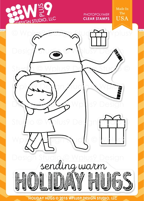 Wplus9 HOLIDAY HUGS Clear Stamps CLWP9HOHU zoom image