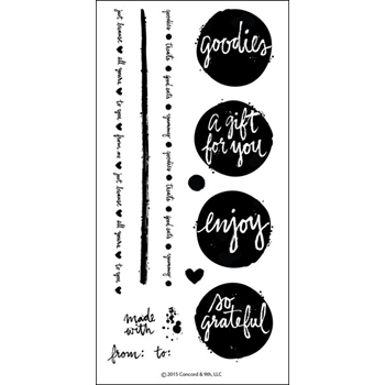 Concord & 9th LOTS OF BLOTS Clear Stamp Set 10020C9*