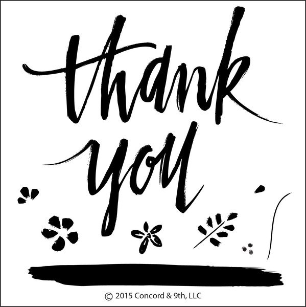 Concord & 9th PAINTED THANK YOU Clear Stamp Set 10003C9* zoom image