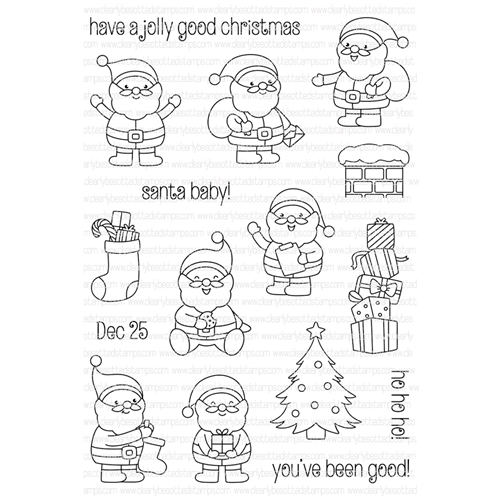 Clearly Besotted SANTA BABY Clear Stamp Set  Preview Image