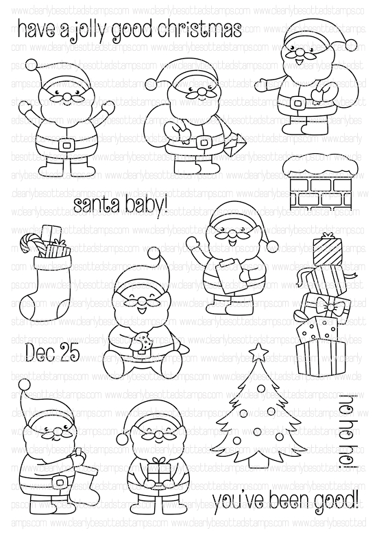 Clearly Besotted SANTA BABY Clear Stamp Set  zoom image