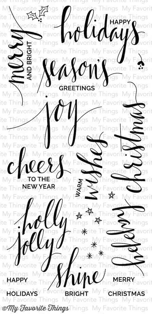 My Favorite Things HAND LETTERED HOLIDAY Clear Stamps CS83 zoom image
