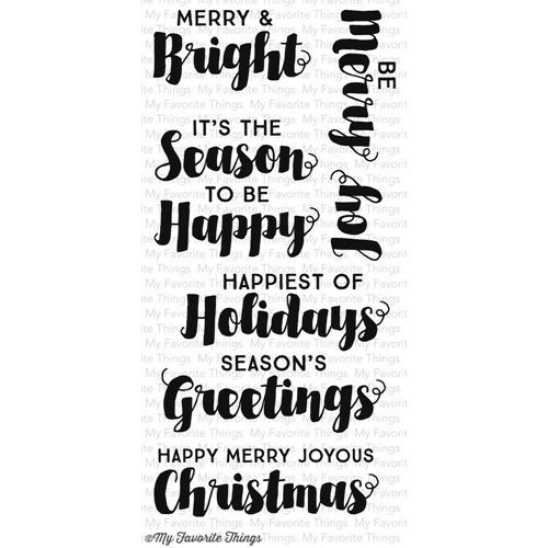 My Favorite Things JOYOUS CHRISTMAS SENTIMENTS Clear Stamps CS86 Preview Image
