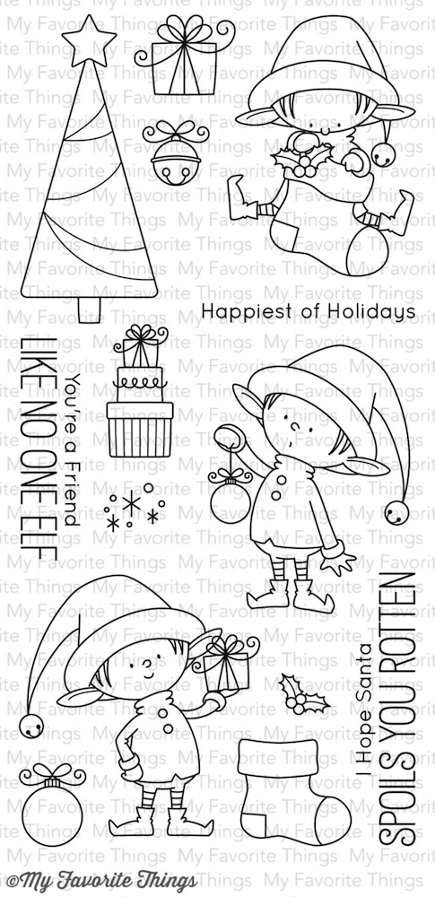 My Favorite Things SANTA'S ELVES Clear Stamps BB25 zoom image