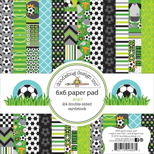 Doodlebug GOAL!! 6x6 Paper Pad 4893 Preview Image