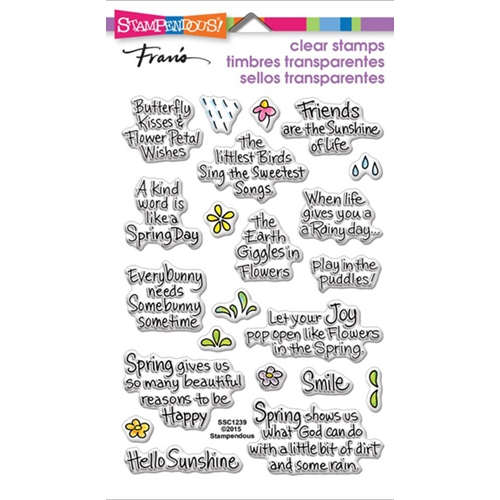 Stampendous Clear Stamps SPRING SENTIMENTS SSC1239 Preview Image