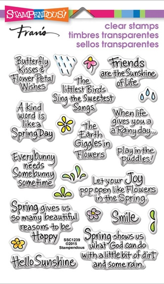 Stampendous Clear Stamps SPRING SENTIMENTS SSC1239 zoom image