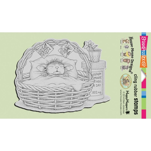 Stampendous Cling Stamp QUICK RECOVERY Rubber UM HMCR44 House Mouse Preview Image