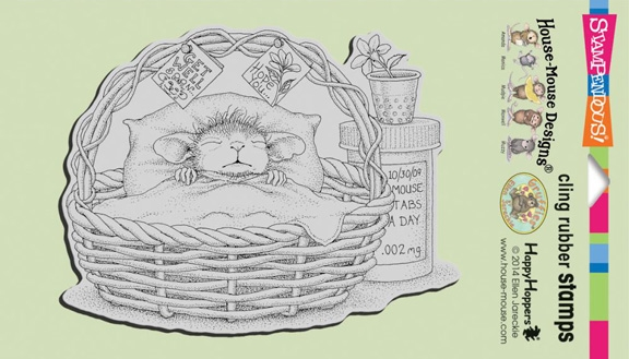 Stampendous Cling Stamp QUICK RECOVERY Rubber UM HMCR44 House Mouse zoom image