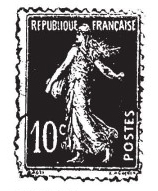 Tim Holtz Rubber Stamp POSTES FRANCAISE Stampers Anonymous