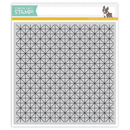 Simon Says Cling Stamp LATTICE GRID sss101577 Create Joy Preview Image