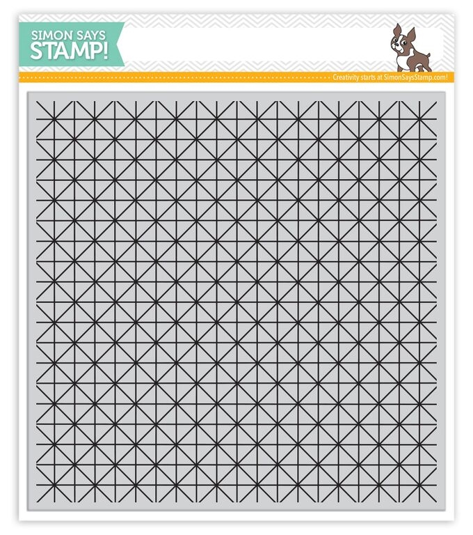 Simon Says Cling Stamp LATTICE GRID sss101577 Create Joy zoom image