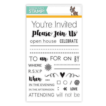 Simon Says Clear Stamps MAKE AN INVITATION sss101547 Create Joy