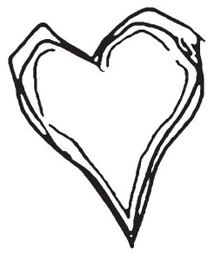 Tim Holtz Rubber Stamp SCRIBBLE HEART Love Stampers Anonymous K1-1209 Preview Image
