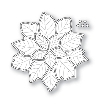 Simon Says Stamp HOLIDAY POINSETTIA with Embossed Leaves Wafer Die s312