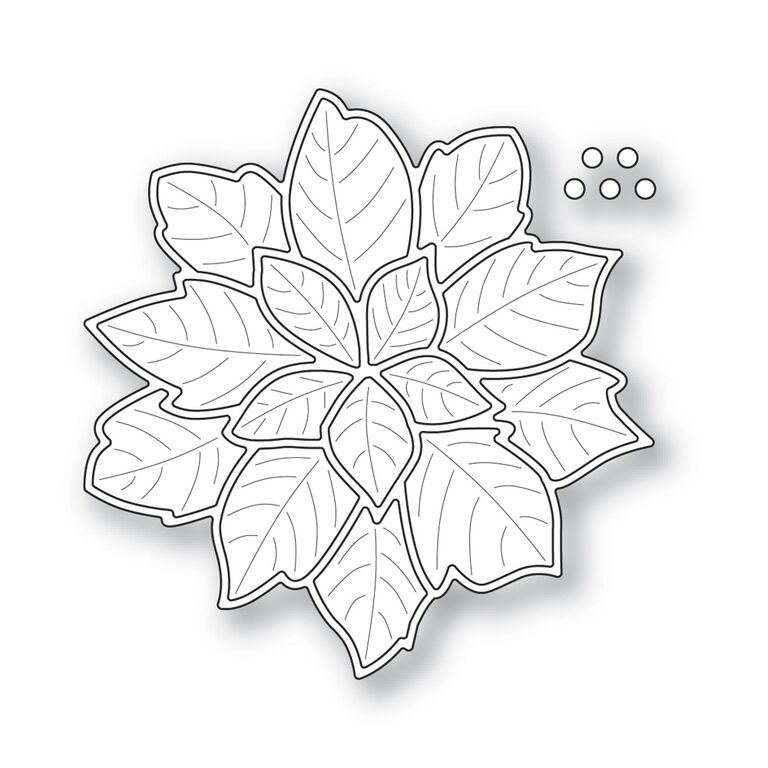 Simon Says Stamp HOLIDAY POINSETTIA with Embossed Leaves Wafer Die s312 zoom image