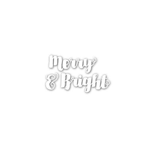Simon Says Stamp MERRY AND BRIGHT Wafer Dies sssd111535 Create Joy * Preview Image