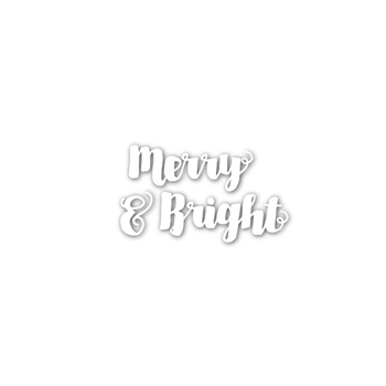 Simon Says Stamp MERRY AND BRIGHT Wafer Dies sssd111535 Create Joy *