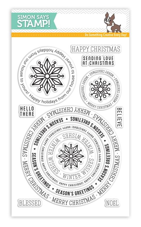 Simon Says Clear Stamps CIRCLE SAYINGS HOLIDAY sss101551 zoom image