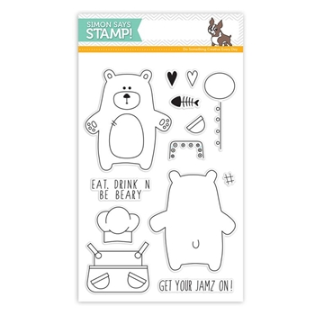 Simon Says Clear Stamps BEAR NECESSITIES sss101570