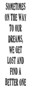 Tim Holtz Rubber Stamp SOMETIMES Dream Stampers Anonymous J3-1081