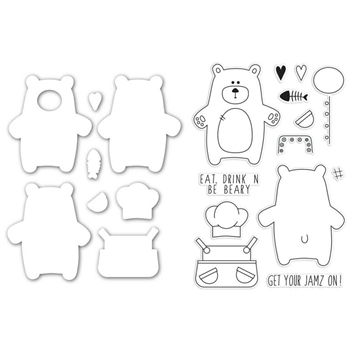Simon Says Stamps and Dies BEAR NECESSITIES setBN232 Create Joy