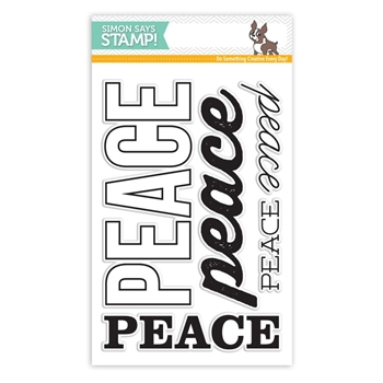 Simon Says Clear Stamps BIG PEACE sss101575 Create Joy