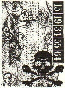 Tim Holtz Cling Rubber ATC Stamp SKULL Stampers Anonymous COM003  Preview Image