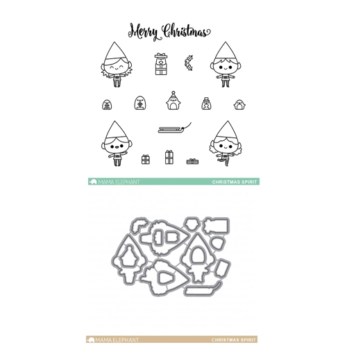 Mama Elephant Clear Stamp and Die MEPT176 Christmas Spirit SET * Preview Image