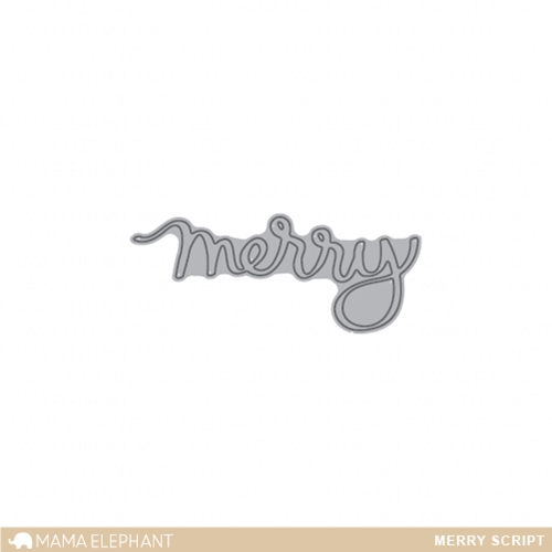 Mama Elephant MERRY SCRIPT Die Creative Cuts Set Preview Image