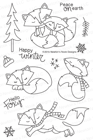 Newton's Nook Designs FOX HOLLOW Clear Stamp Set 20151003 zoom image