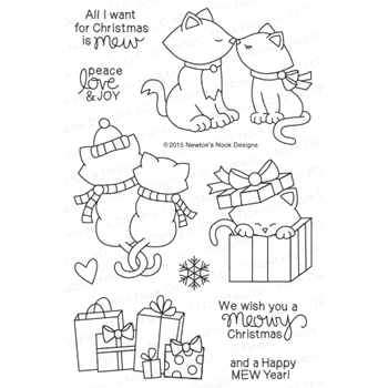 Newton's Nook Designs NEWTON'S CHRISTMAS CUDDLES Clear Stamp Set 20151001