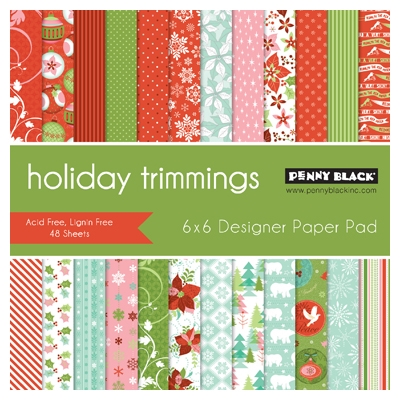 Penny Black HOLIDAY TRIMMINGS Designer 6 X 6 Paper Pad 80-013 zoom image