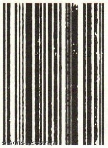 Tim Holtz Cling Rubber ATC Stamp STRIPES Stampers Anonymous