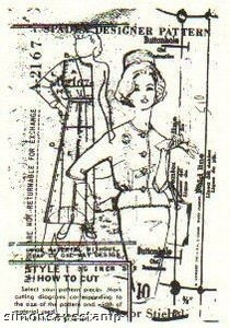 Tim Holtz Cling Rubber ATC Stamp VOGUE Stampers Anonymous COM008 Preview Image