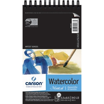 Canson MONTVAL SPIRAL WATERCOLOR 5.5x8.5 Pad 7026760