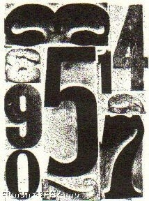 Tim Holtz Cling Rubber ATC Stamp NUMBER Stampers Anonymous