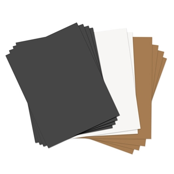 Sizzix PAPER LEATHER SHEETS ASSORTED BASICS 8.5x11 Paper 661149