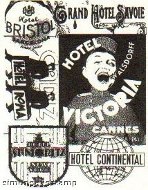 Tim Holtz Cling Rubber ATC Stamp HOTEL Stampers Anonymous COM005  zoom image