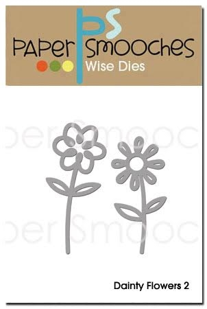 Paper Smooches DAINTY FLOWERS 2 Wise Dies NOD277 Preview Image